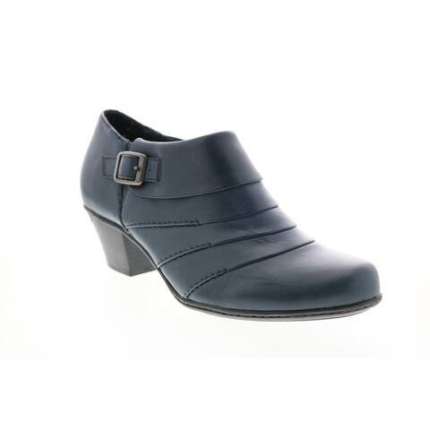 Earth Dawn Soft Leather Blue Womens Ankle & Booties Boots