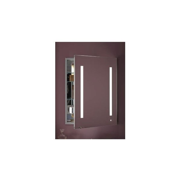 "Robern AC2430D4P1R AiO 24"" x 30"" x 4"" Single Door Medicine Cabinet with Right Hinge, Task Lighting, and Interior Illumination"