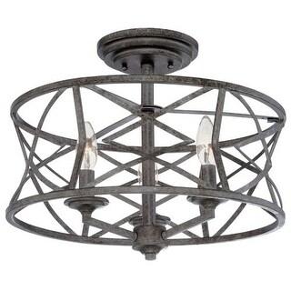 "Millennium Lighting 2173 Lakewood 3 Light 16"" Wide Semi-Flush Ceiling Fixture"