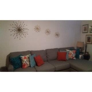 Stratton Home Decor Gold Burst Wall Set Of 3