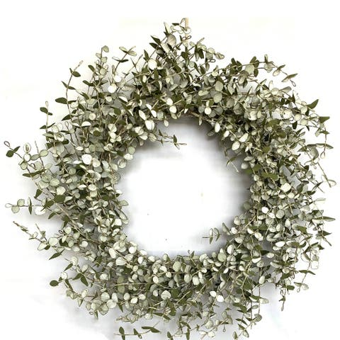 Glitzhome Eva Mini Eucalyptus Wreath