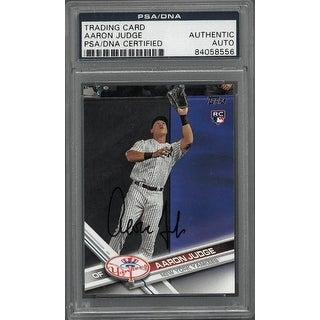 Aaron Judge signed New York Yankees 2017 Topps Rookie Card 287 PSA Encapsulation 84058556