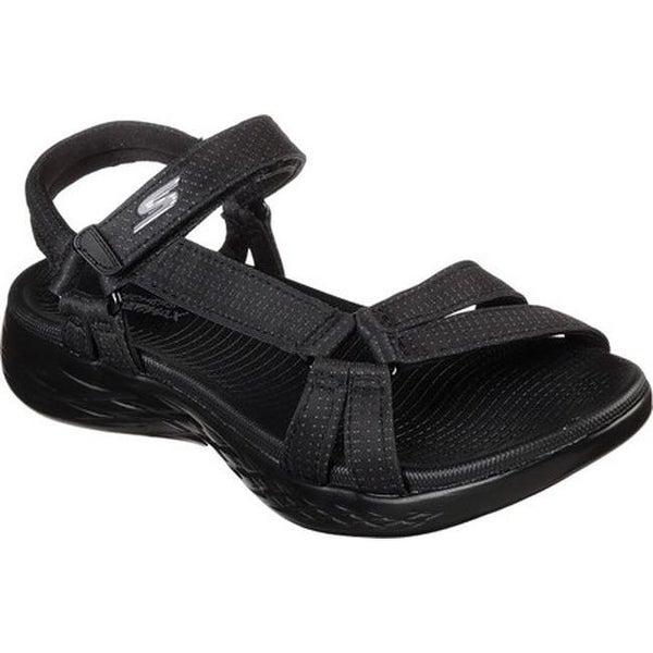 903c5bc79b81 Skechers Women  x27 s On the GO 600 Brilliancy Ankle Strap Sandal Black