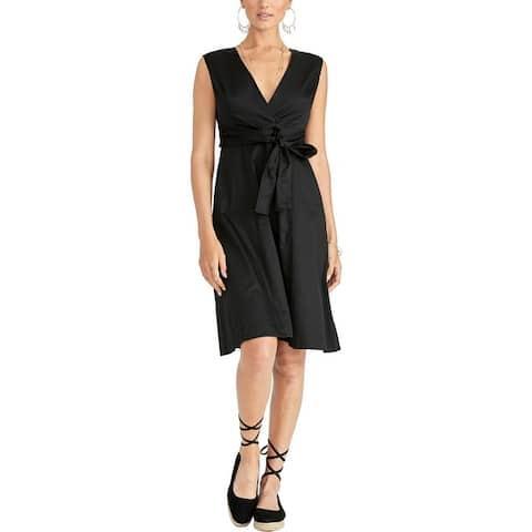 Rachel Rachel Roy Womens Pearl Casual Dress Sleeveless Tie-Front