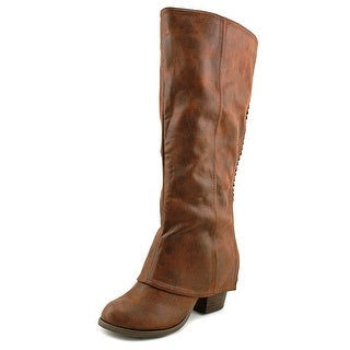 Fergalicious Lundry Wide Calf Women  Round Toe Synthetic Tan Knee High Boot