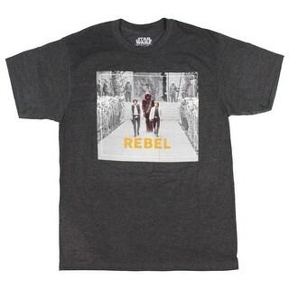 Star Wars Men's Luke, Han Solo, Chewie Rebel Walk Awards Ceremony T-Shirt