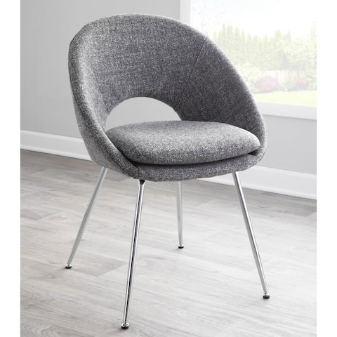 Silver Orchid Lovell Chrome Dining Chairs - Set of 2