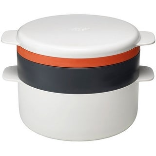 Joseph Joseph M-Cuisine 4 Piece Stackable Microwave Cooking Set, Orange/Beige