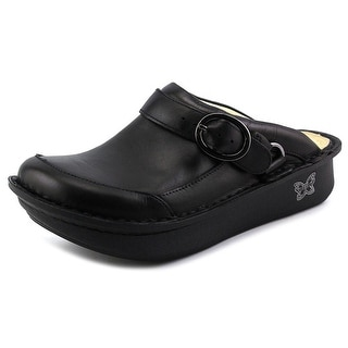 Alegria Seville Women Round Toe Leather Black Mules