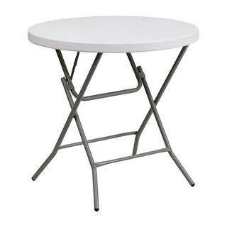 "Offex 32"" Round Granite White Plastic Folding Table [OF-DAD-YCZ-80R-GW-GG]"
