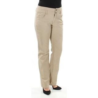Womens Beige Casual Straight leg Pants Size 11
