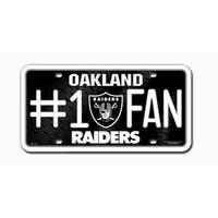 Oakland Raiders License Plate - #1 Fan