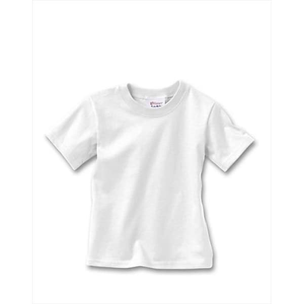 Hanes T120 Comfortsoft Crewneck ToDDler T-Shirt Size 3T, White