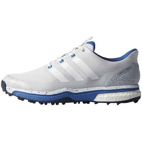 innovative design 00305 b1217 Adidas Men s Adipower Sport Boost 2 White Clear Greyray Blue Golf Shoes  F33469