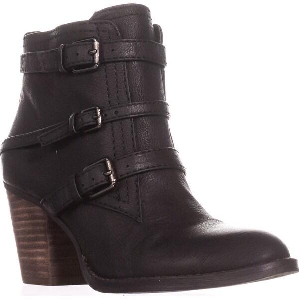 Nine West Fitz Triple Strap Ankle Boots, Black