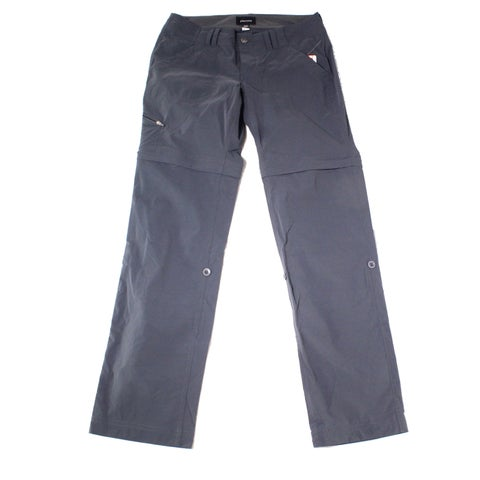 Marmot Gray Womens Size 6 Button-Front Straight Leg Casual Pants