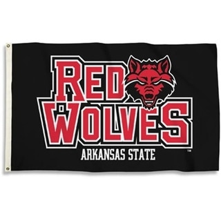 Bsi Products 95093 Arkansas State Red Wolves 3 X 5 Ft Flag With Grommets