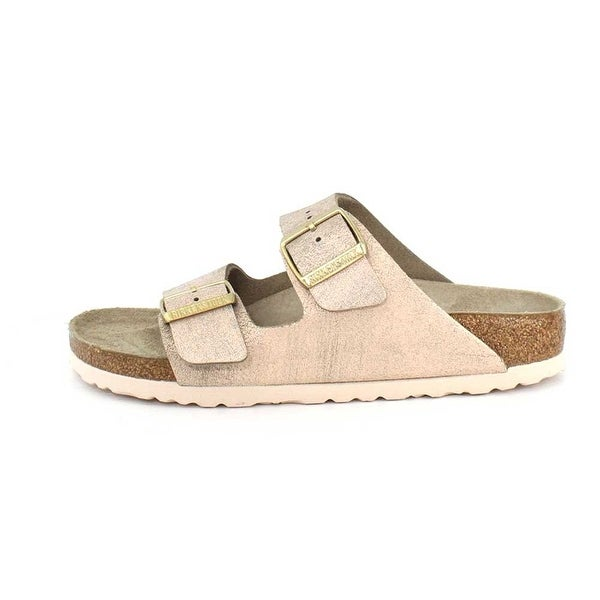 Birkenstock Womens ARIZONA Leather Open Toe Casual Slide