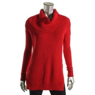 MICHAEL Michael Kors Womens Cowl neck Ribbed Tunic Sweater