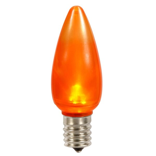 Club Pack of 25 Orange LED C9 Ceramic Twinkle Replacement Light Bulbs