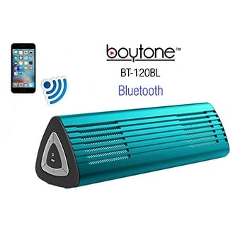 Boytone BT-120BL Portable Wireless Bluetooth Speaker, Built-in Microphone, Rechargeable battery, Works with all Smart Phones