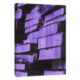 "PTM Images 9-108883  PTM Canvas Collection 10"" x 8"" - ""New Book - Purple"" Giclee Books Art Print on Canvas"