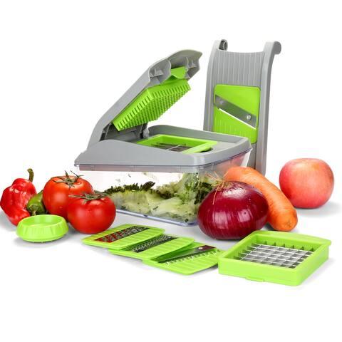 13 in 1 Vegetable Fruit Slicer Cutter Chopper with Brush and Organizer Bag- Dishwasher Safe