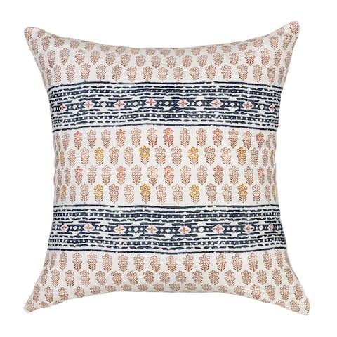"Arden Selections Home 20"" Throw Pillow - Stripe Block Print"