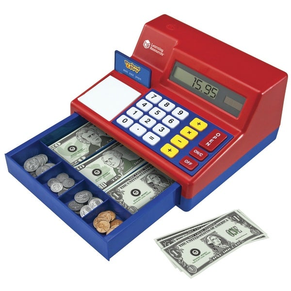 Learning resources pretend | play calculator cash register | stem.