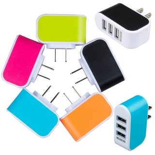 3-port USB Charger for Phones/Tablets/MP3