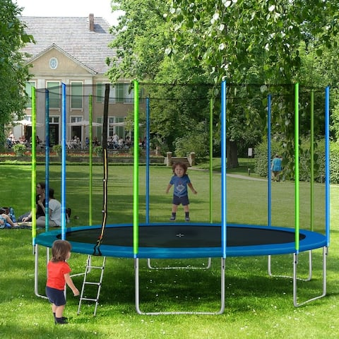 TiramisuBest 16FT Trampoline for Kids with Enclosure Net&Ladder