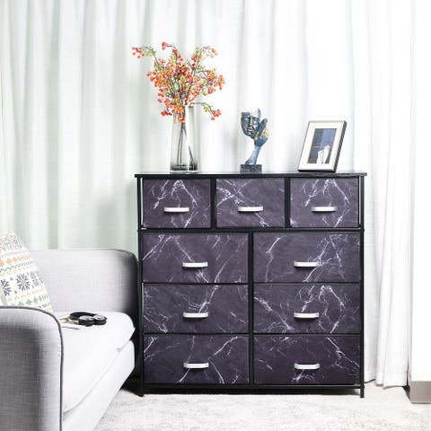 9 Drawer Extra Wide Fabric Storage Dresser