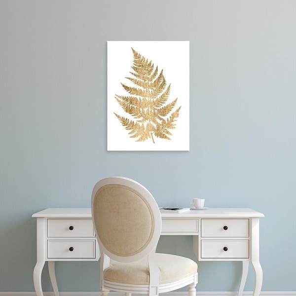 Easy Art Prints Studio W's 'Graphic Gold Fern IV' Premium Canvas Art