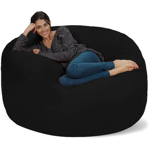 Bean Bag Chair 5-foot Memory Foam Removable Cover Bean Bags