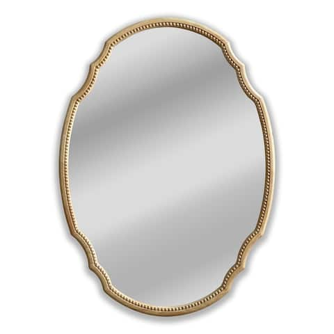 Maple Framed Wall Mounted Oval Accent Mirror