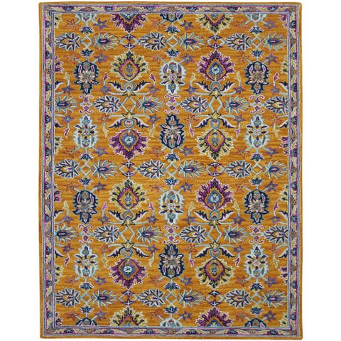 Calliope Sara Orange Hand-Tufted Wool Area Rug