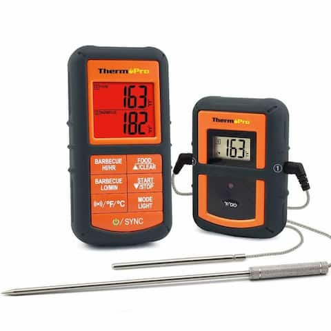 ThermoPro TP08 Wireless Remote Kitchen Cooking Meat Thermometer - Dual Probe for Bbq Smoker Grill Oven