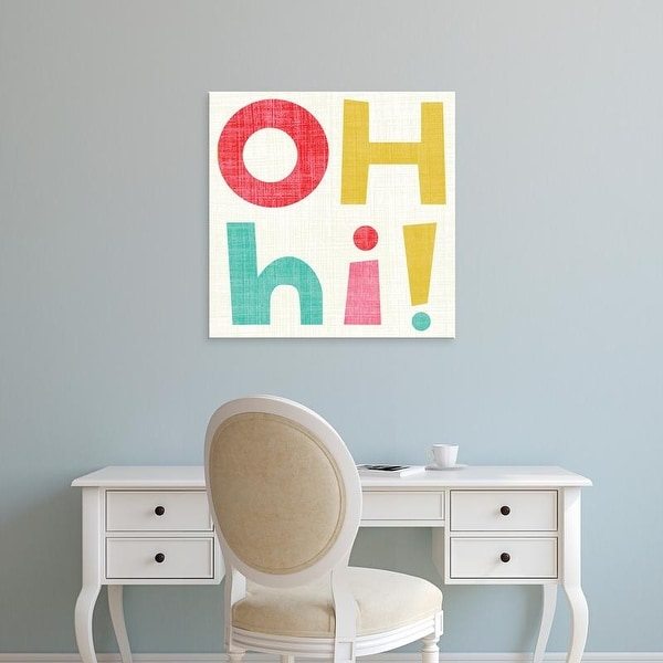 Easy Art Prints Chariklia Zarris's 'Hi You I' Premium Canvas Art