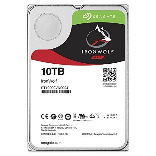 "Seagate Ironwolf St10000vn0004 10 Tb 3.5"" 7200 Rpm Internal Hard Drive"