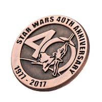 Star Wars 40th Anniversary Collectible Bronze Pin, SDCC '17 Exclusive - multi