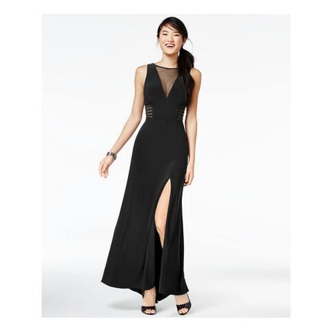 MORGAN & CO Black Sleeveless Full-Length Dress 3\4