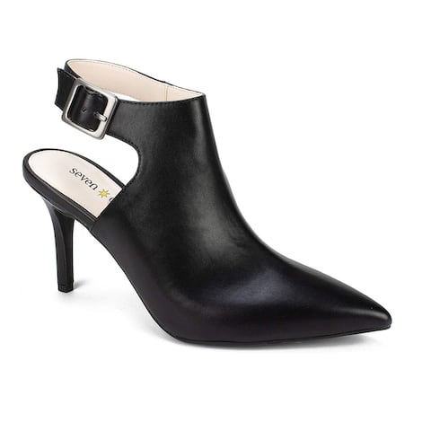Seven Dials Womens Sherly Pointed Toe Ankle Strap Classic Pumps