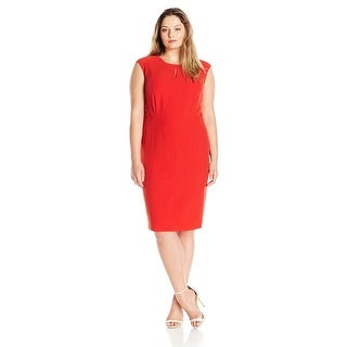 Kasper Plus Size Stretch Crepe Sheath Dress - 14W