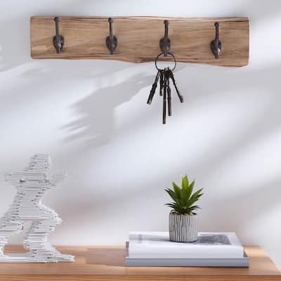 Live Edge Solid Wood Wall Hooks