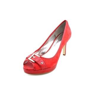 Alfani Pacific Women Peep-Toe Suede Red Heels