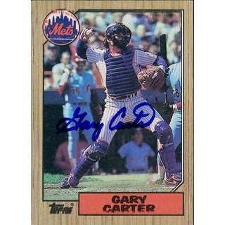 Signed Carter Gary New York Mets 1987 Topps Baseball Card autographed