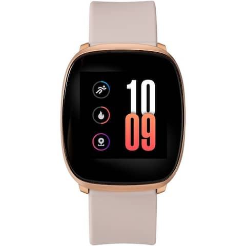 iConnect by Timex Premium Active Smartwatch with Touchscreen & Heart Rate 36mm - Rose Gold-Tone with Blush Silicone Strap