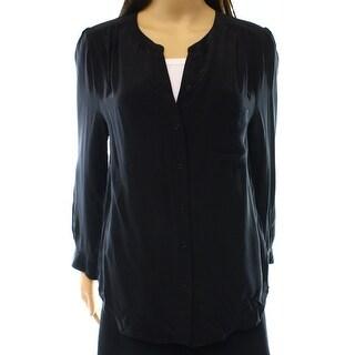 Joie NEW Black Women's Size Medium M Silk Sheer Button Down Shirt