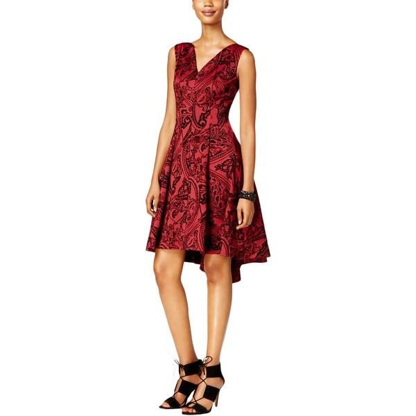 6b3440d1dd SL Fashions Womens Mini Dress Hi Low Sleeveless
