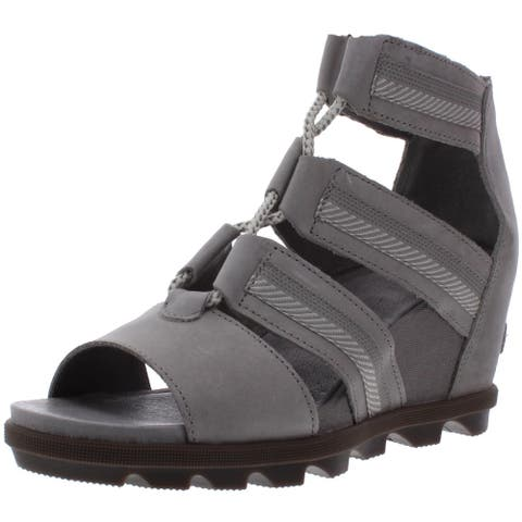Sorel Womens Joanie II Lace Wedges Lace-Up Strappy